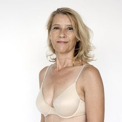 Woman in bra
